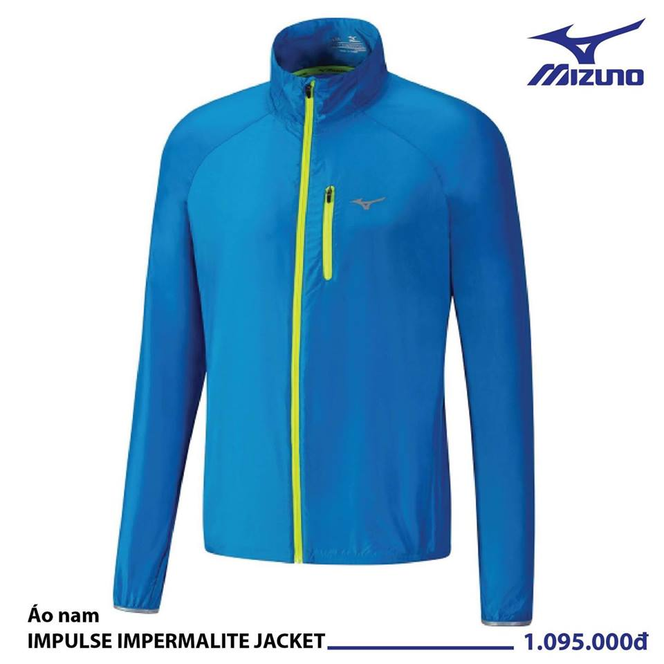 Áo Mizuno Nam IMPULSE IMPERMALITE JACKET BLUE