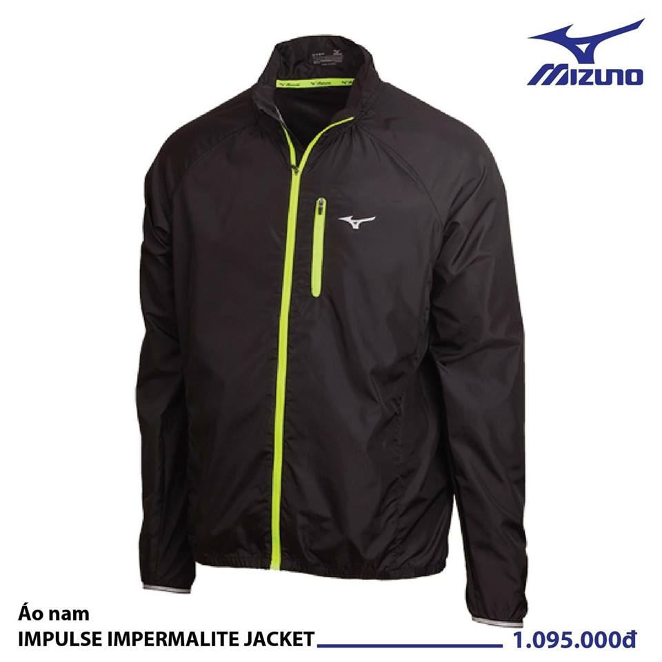 Áo Mizuno Nam IMPULSE IMPERMALITE JACKET BLACK